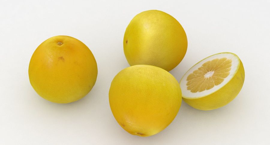 Fruit Grapefruit Yellow royalty-free 3d model - Preview no. 4