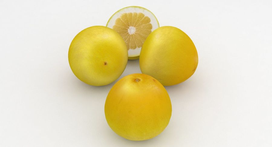Fruit Grapefruit Yellow royalty-free 3d model - Preview no. 2