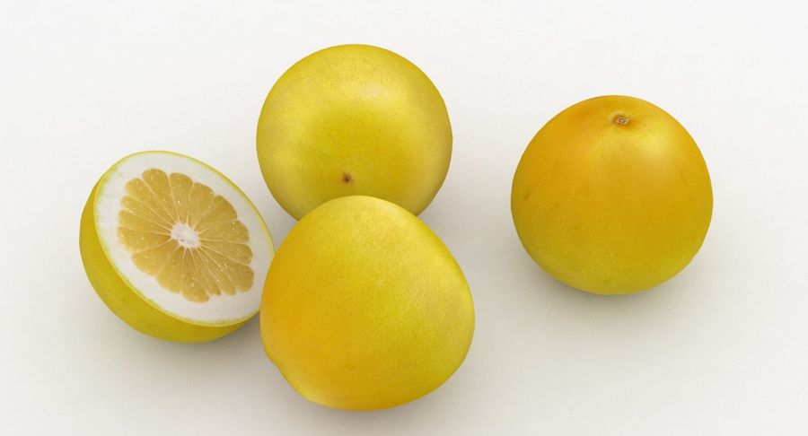 Fruit Grapefruit Yellow royalty-free 3d model - Preview no. 6