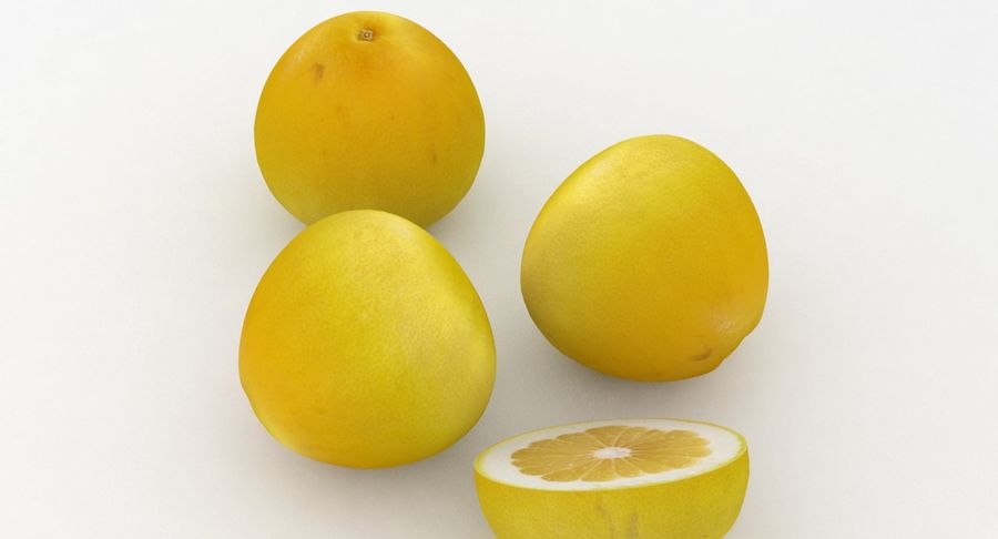 Fruit Grapefruit Yellow royalty-free 3d model - Preview no. 5