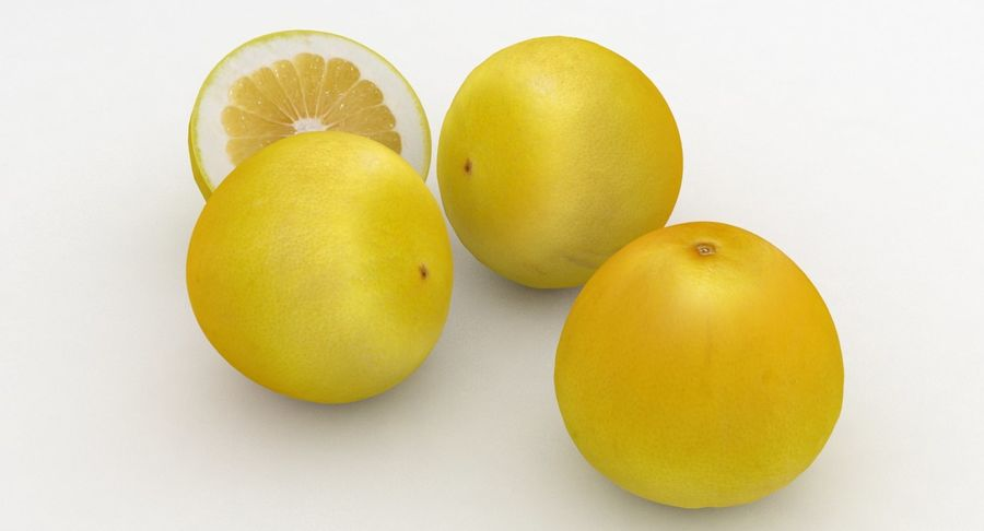 Fruit Grapefruit Yellow royalty-free 3d model - Preview no. 7