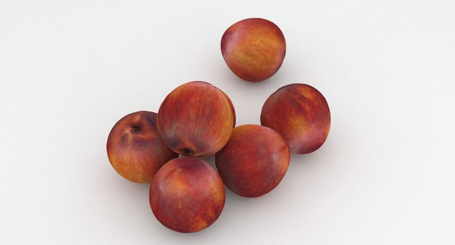 Fruit Peach royalty-free 3d model - Preview no. 3