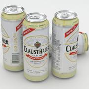Beer Can Clausthaler 500ml 3d model