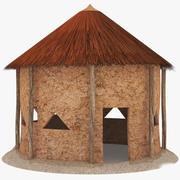 Afrika Kulübe Düşük Poli 3d model