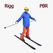 Skier 3d model