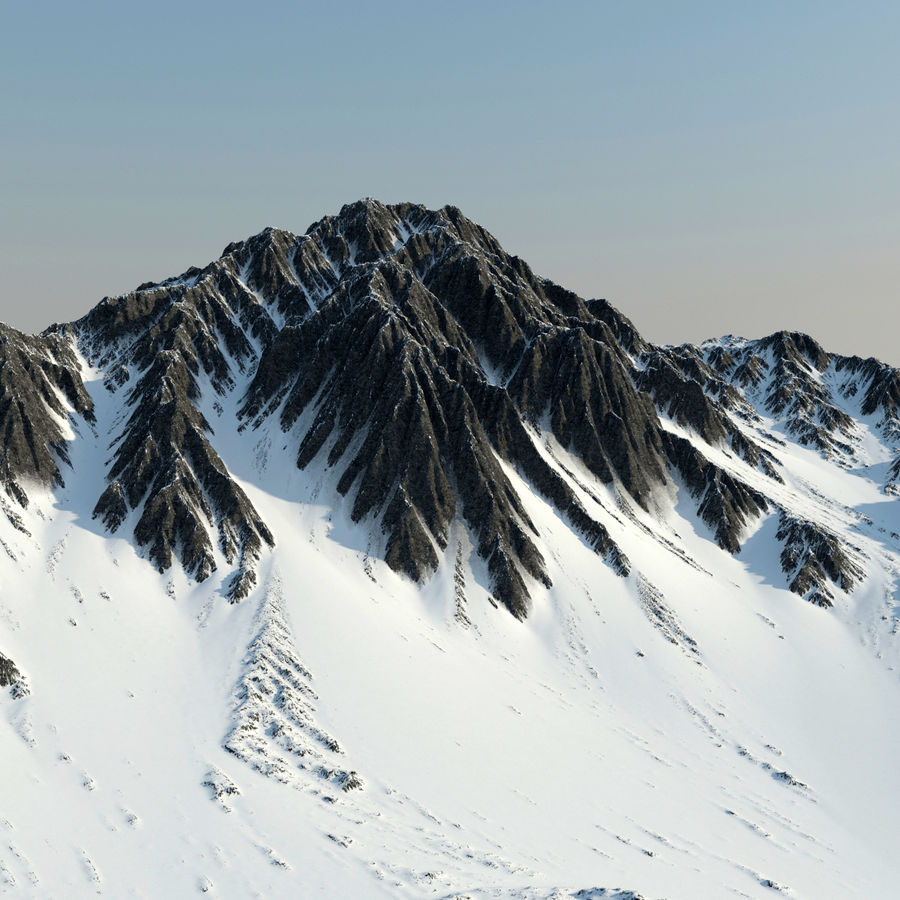 Mountains terrain royalty-free 3d model - Preview no. 4