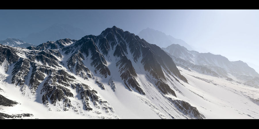 Mountains terrain royalty-free 3d model - Preview no. 1