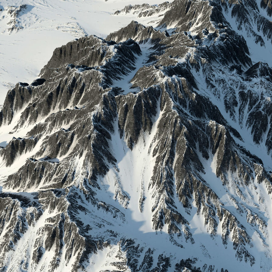 Mountains terrain royalty-free 3d model - Preview no. 5