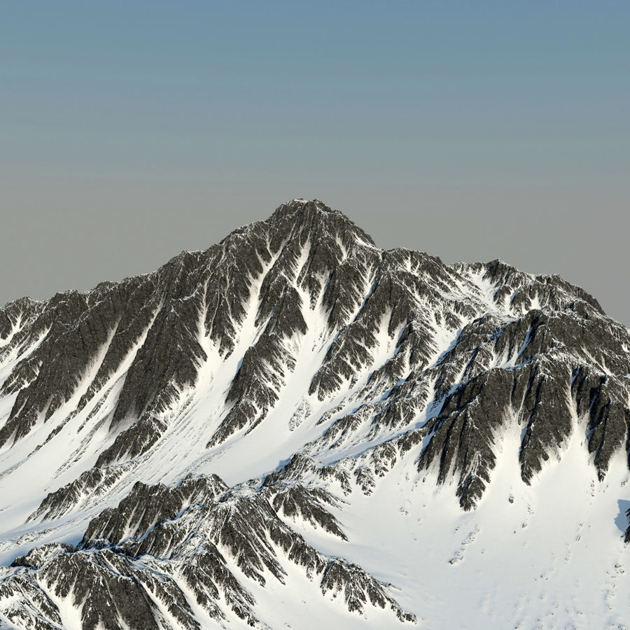 Mountains terrain royalty-free 3d model - Preview no. 3