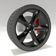 Dodge challenger wheel modelo 3d