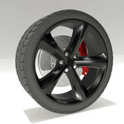 Dodge Challenger Wheel 3d model