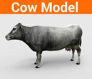 inek düşük poli modeli 3d model