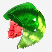 Watermelon helmet 3d model