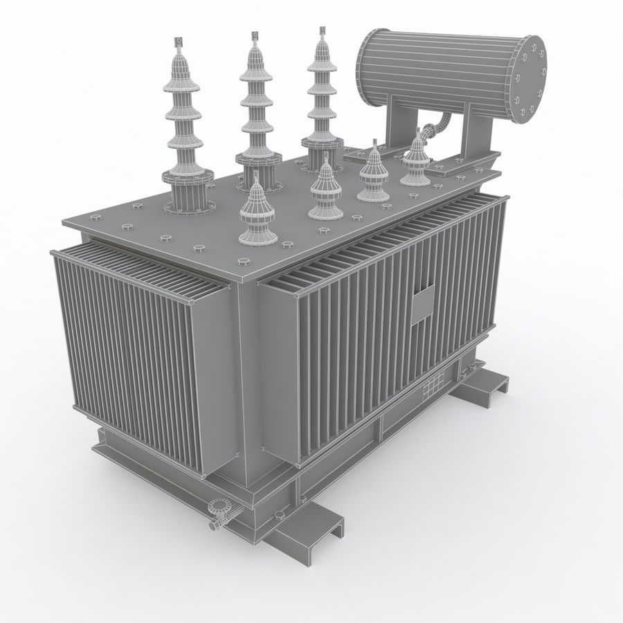 Power transformer royalty-free 3d model - Preview no. 5