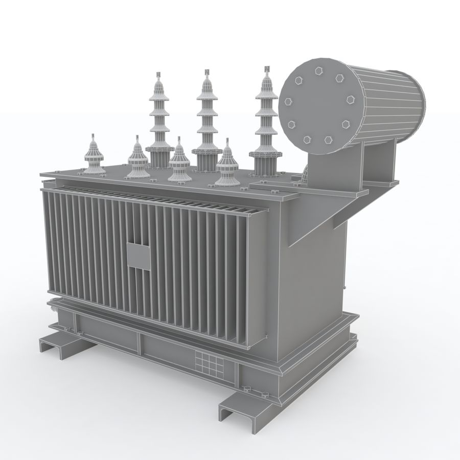 Power transformer royalty-free 3d model - Preview no. 6