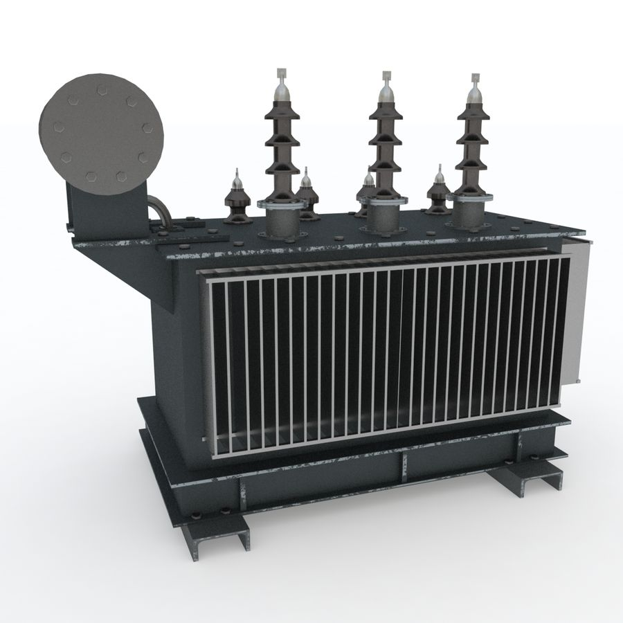 Power transformer royalty-free 3d model - Preview no. 3