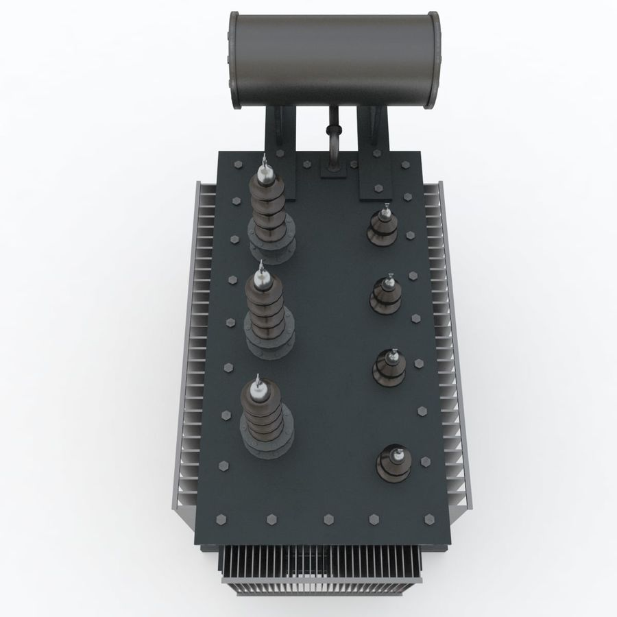 Power transformer royalty-free 3d model - Preview no. 4