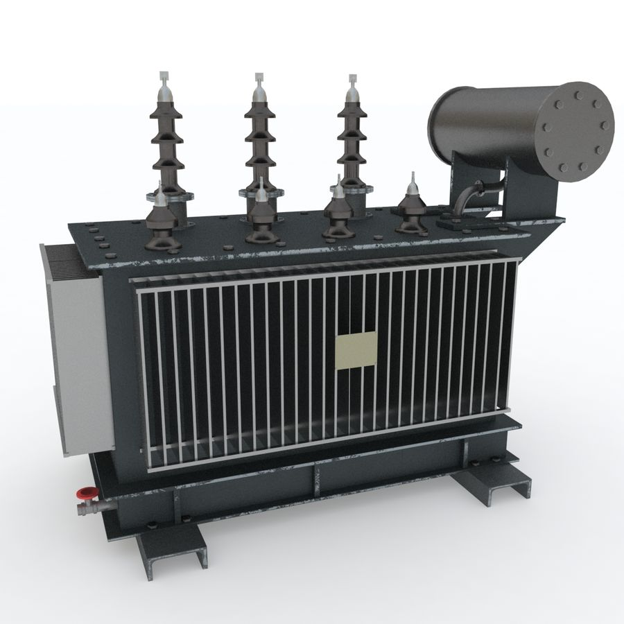 Power transformer royalty-free 3d model - Preview no. 1