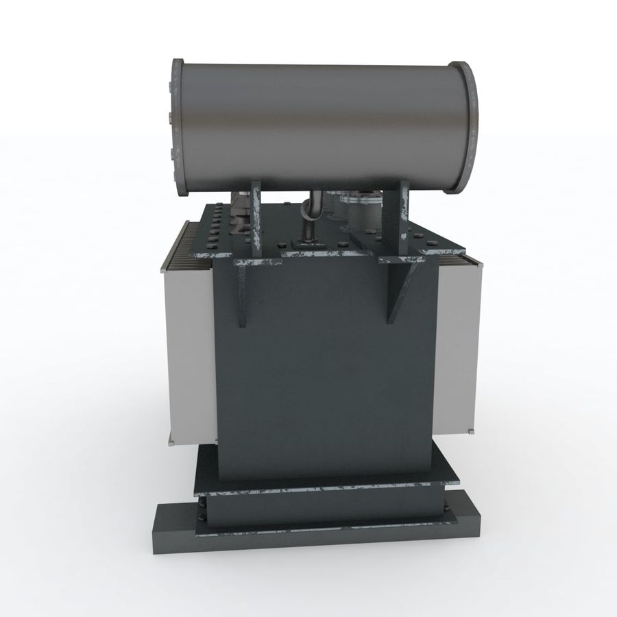 Power transformer royalty-free 3d model - Preview no. 2