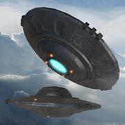 ufo rymdskepp 3d model