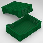 Caja de plástico de 60x40x15cm para frutas y verduras modelo 3d
