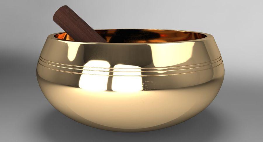 Sjungande skål royalty-free 3d model - Preview no. 4