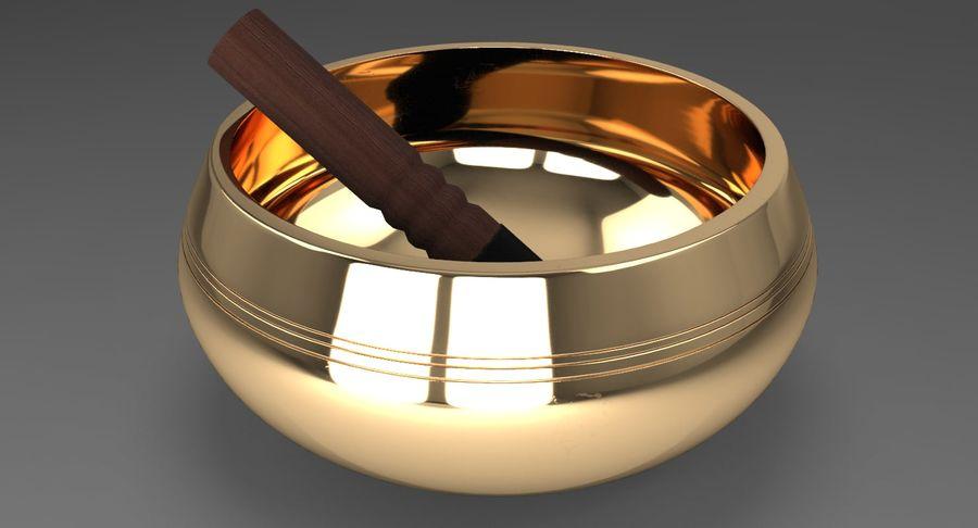 Sjungande skål royalty-free 3d model - Preview no. 5