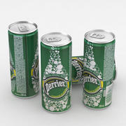 Beverage Can Perrier Water 250ml 3d model
