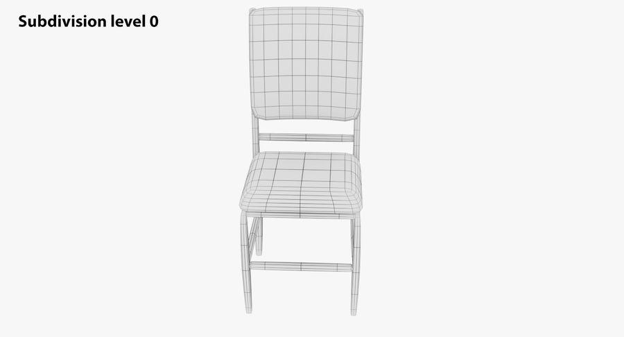 Proste krzesło royalty-free 3d model - Preview no. 12
