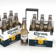 Bierflasche Corona Extra 6er Pack 3d model