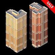 Edificios residenciales modelo 3d