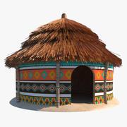 아프리카 오두막 3d model