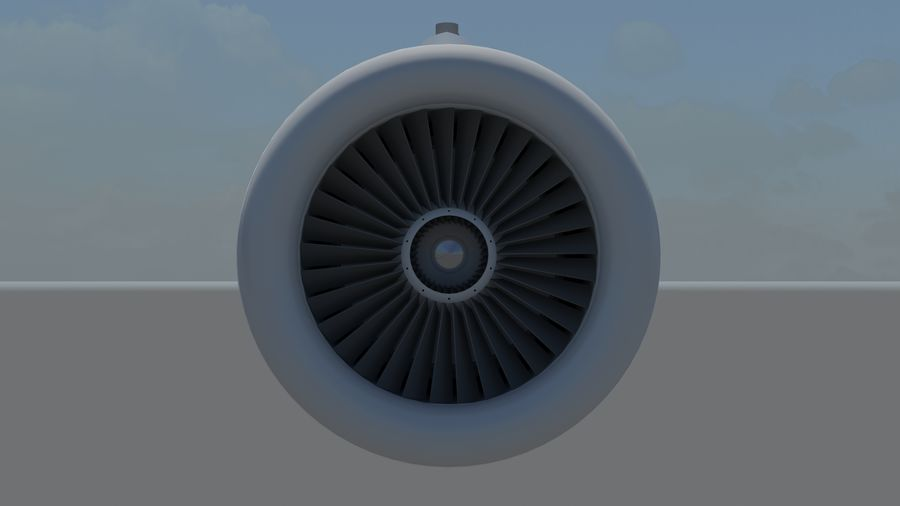 Jet Engine royalty-free 3d model - Preview no. 8