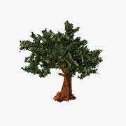 Papierstriche Baum 3d model