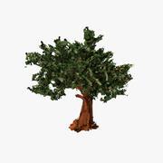 Drzewo uderzeń papieru 3d model