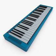 Music Keyboard 3d model