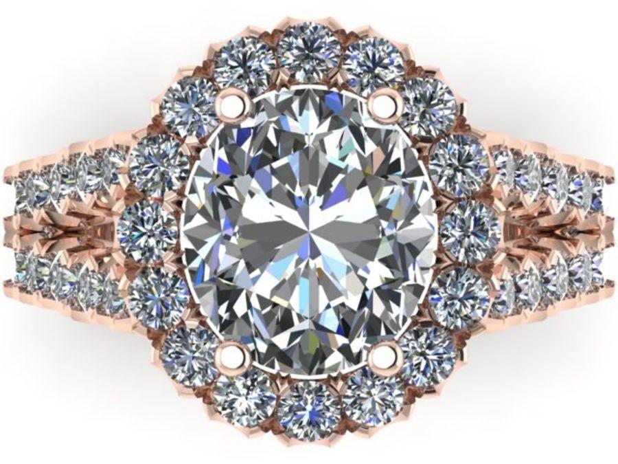 Bisel anillo de vástago dividido royalty-free modelo 3d - Preview no. 2