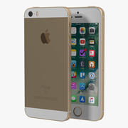 Модель iPhone SE Gold 3D 3d model