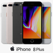 iPhone 8 Plus All Collors 3d model