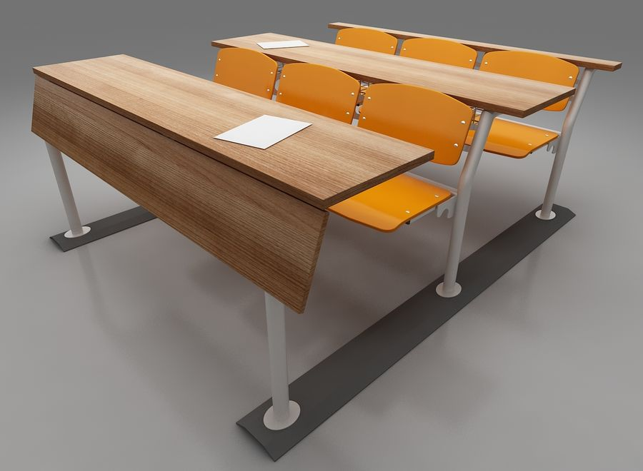 Lecture Desk royalty-free 3d model - Preview no. 4