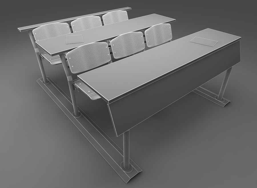 Lecture Desk royalty-free 3d model - Preview no. 7
