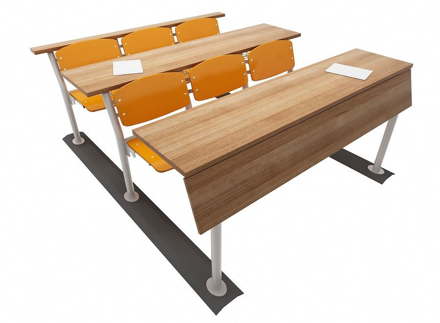 Lecture Desk royalty-free 3d model - Preview no. 1