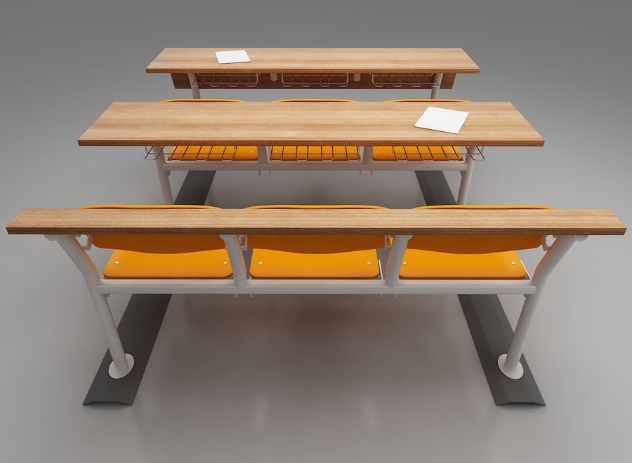 Lecture Desk royalty-free 3d model - Preview no. 3