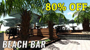 Beach Coffee Bar 3D-Modell 3d model