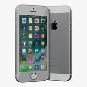 modelo 3D prateado para iPhone SE 3d model