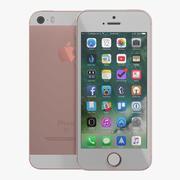 3D модель iPhone SE из розового золота 3d model