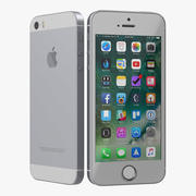Модель iPhone SE Grey 3D 3d model