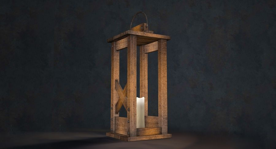 Candle lantern royalty-free 3d model - Preview no. 21