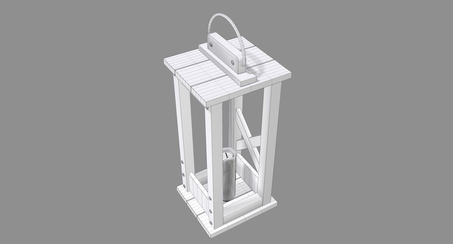 Candle lantern royalty-free 3d model - Preview no. 8