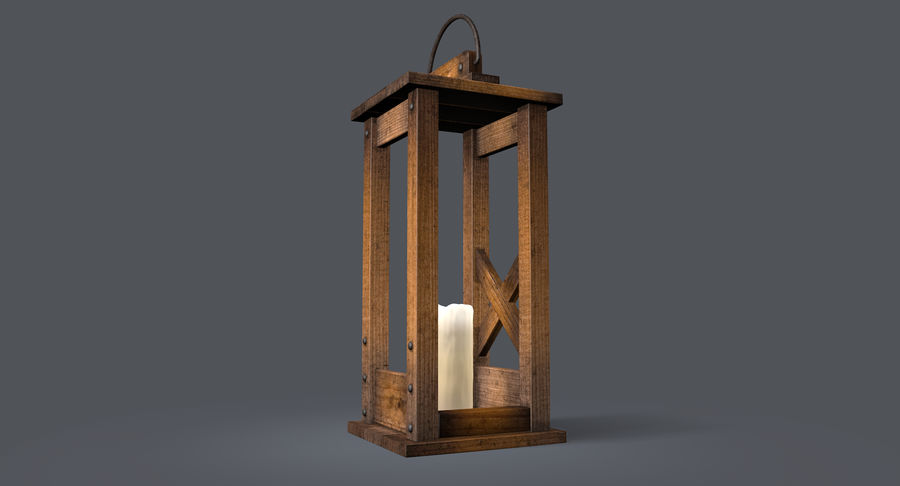 Candle lantern royalty-free 3d model - Preview no. 15